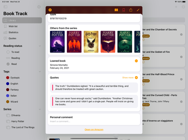 Book Track - Library Manager Screenshot