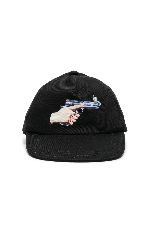 off white hand gun