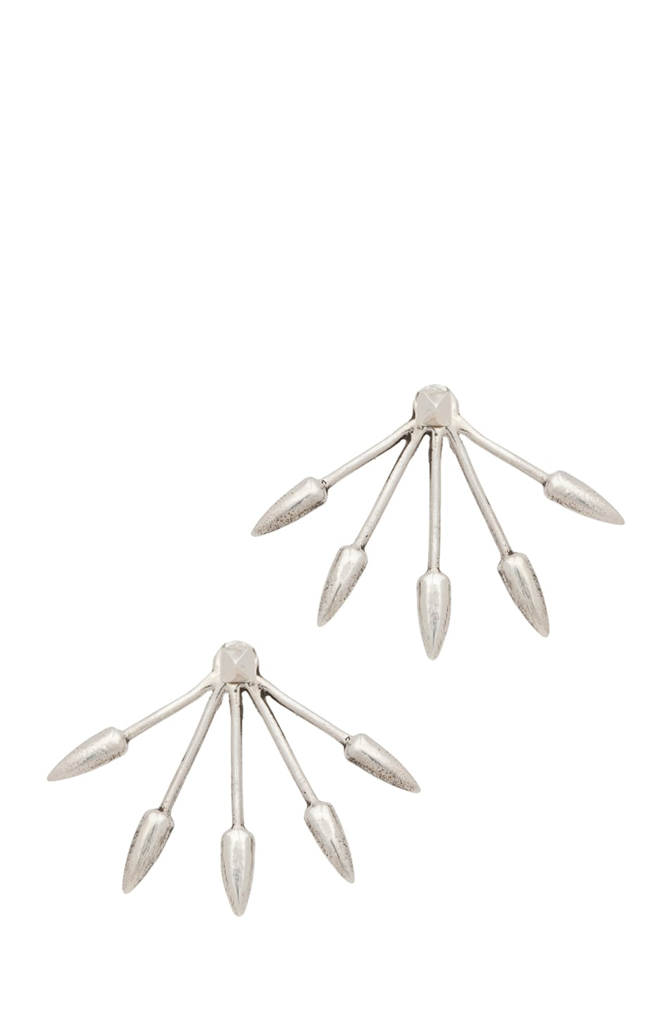 Pamela Love Five Spike Stud Earrings in Sterling Silver
