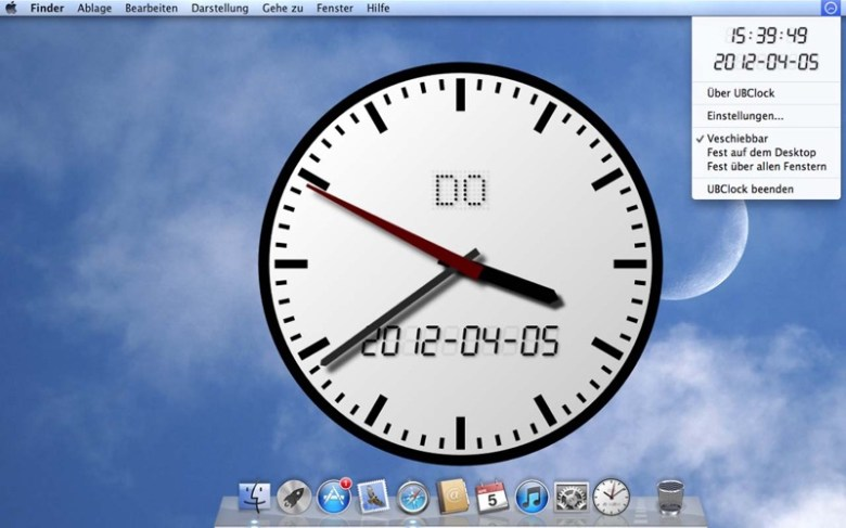 UBClock Screenshot