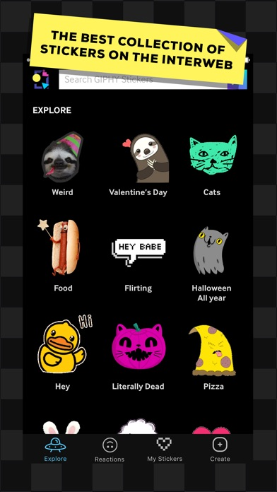 GIPHY Stickers. The Animated Sticker & Emoji App Screenshot