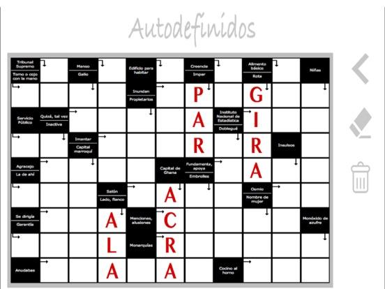 Crucigramas autodefinidos puzzles en español por Mireia