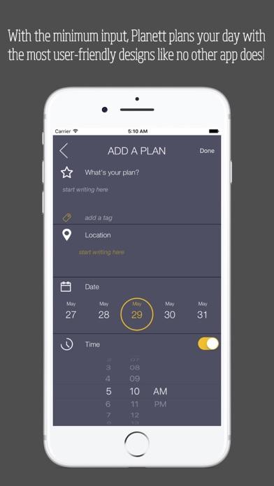 Screenshot do app Planett: Simple daily & weekly todo list / planner