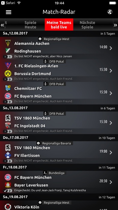 Fantomic - Fussball Live-Ticker Screenshot