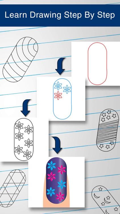 Easy To Draw Nail Art Water Polish Design Snowflake