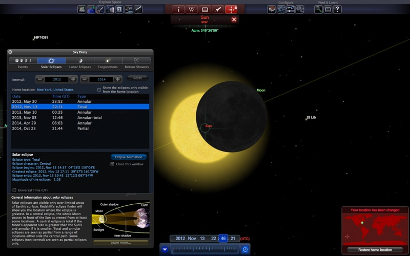 Redshift - Astronomy Screenshot