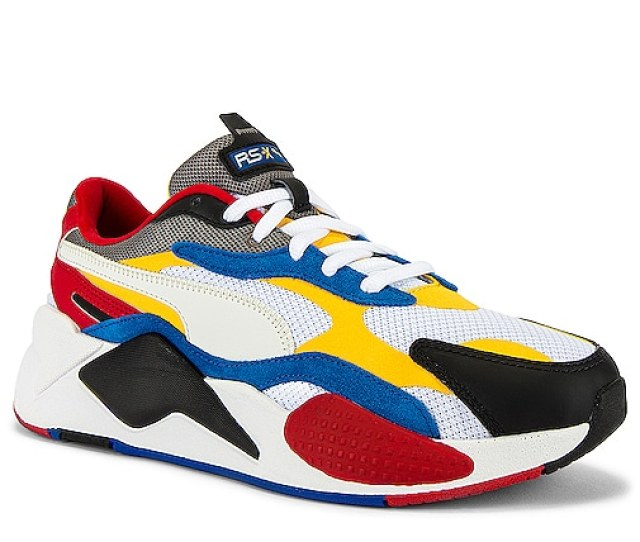 Puma Select Rsx Cube Rs X Puzzle In Puma White Spectra Yellow