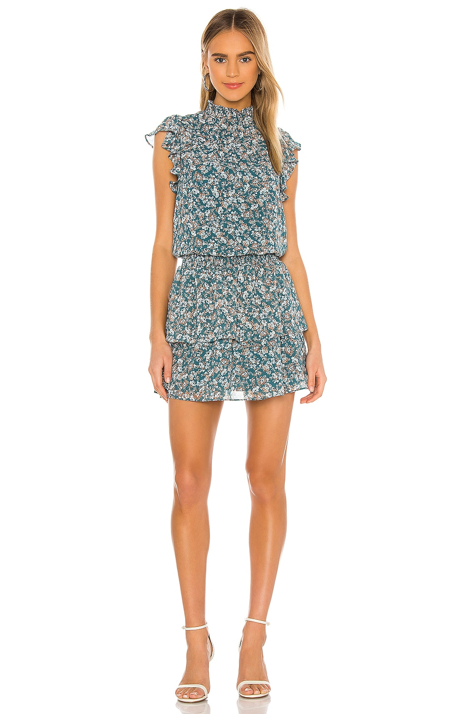 Woodland Floral High Neck Tiered Dress             1. STATE                                                                                                       CA$ 140.76 3