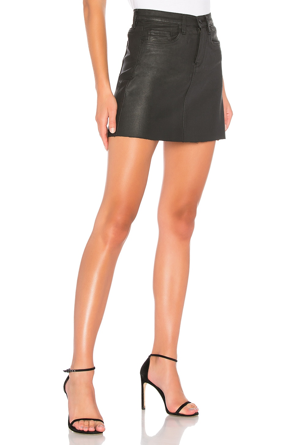 Frayed Edge Mini Skirt, view 2, click to view large image.