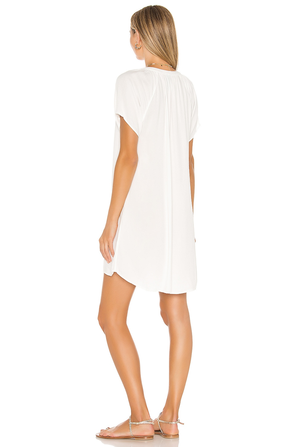 Beach Crepe Mini Dress, view 3, click to view large image.