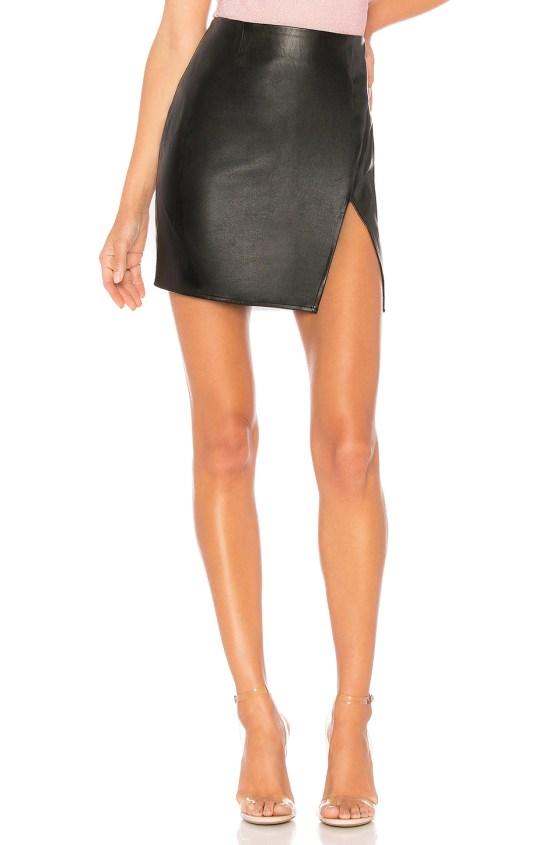 Trinity Faux Leather Skirt                     superdown 11