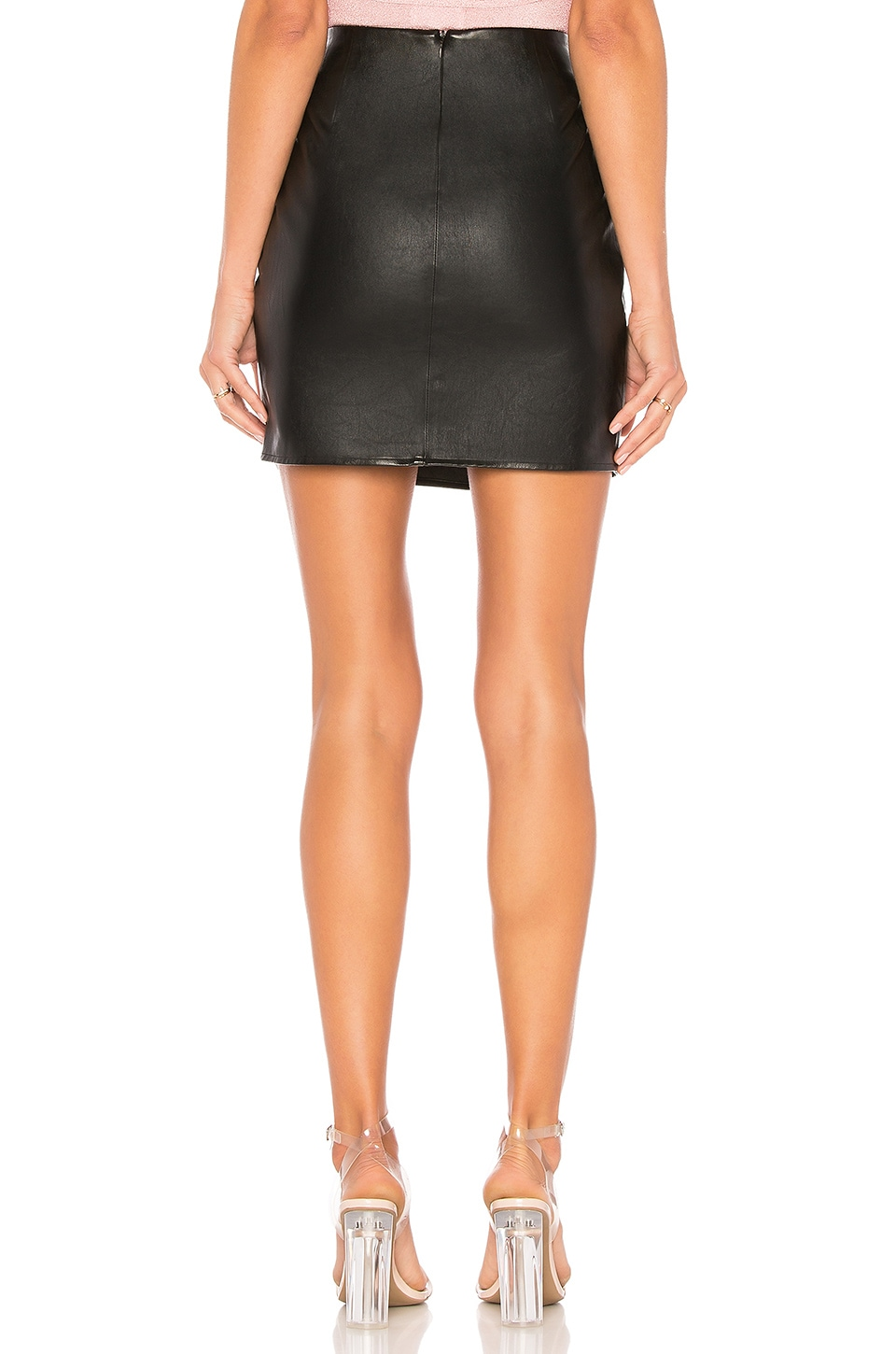 Trinity Faux Leather Skirt, view 3, click to view large image.