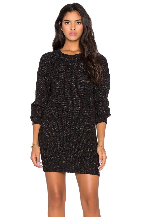 Black Cardigan Sweater with Sparkles