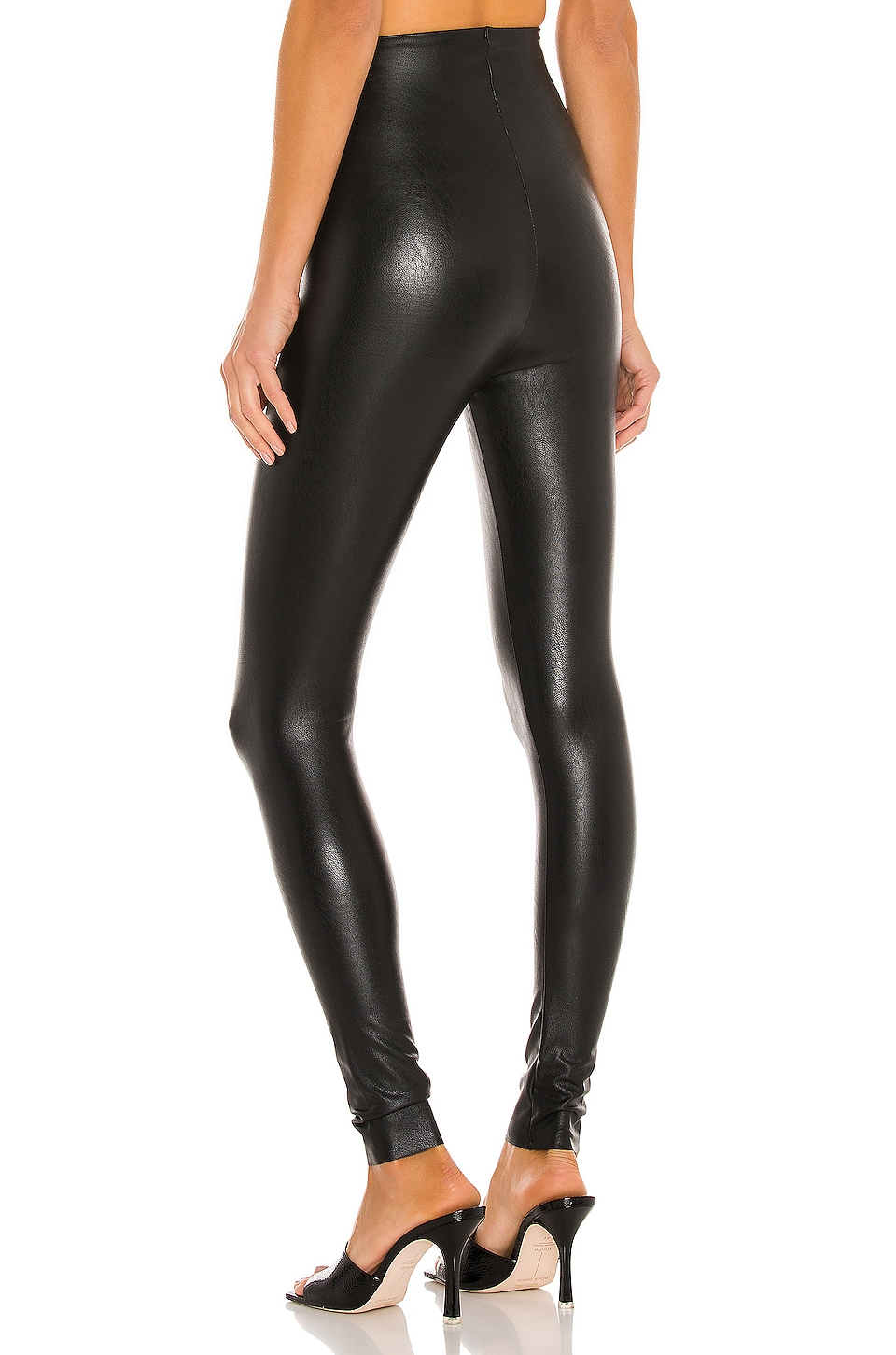 Perfect Control Faux Leather Legging, view 3, click to view large image.