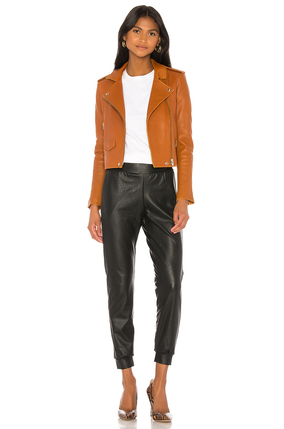 Faux Leather Jogger, view 4, click to view large image.