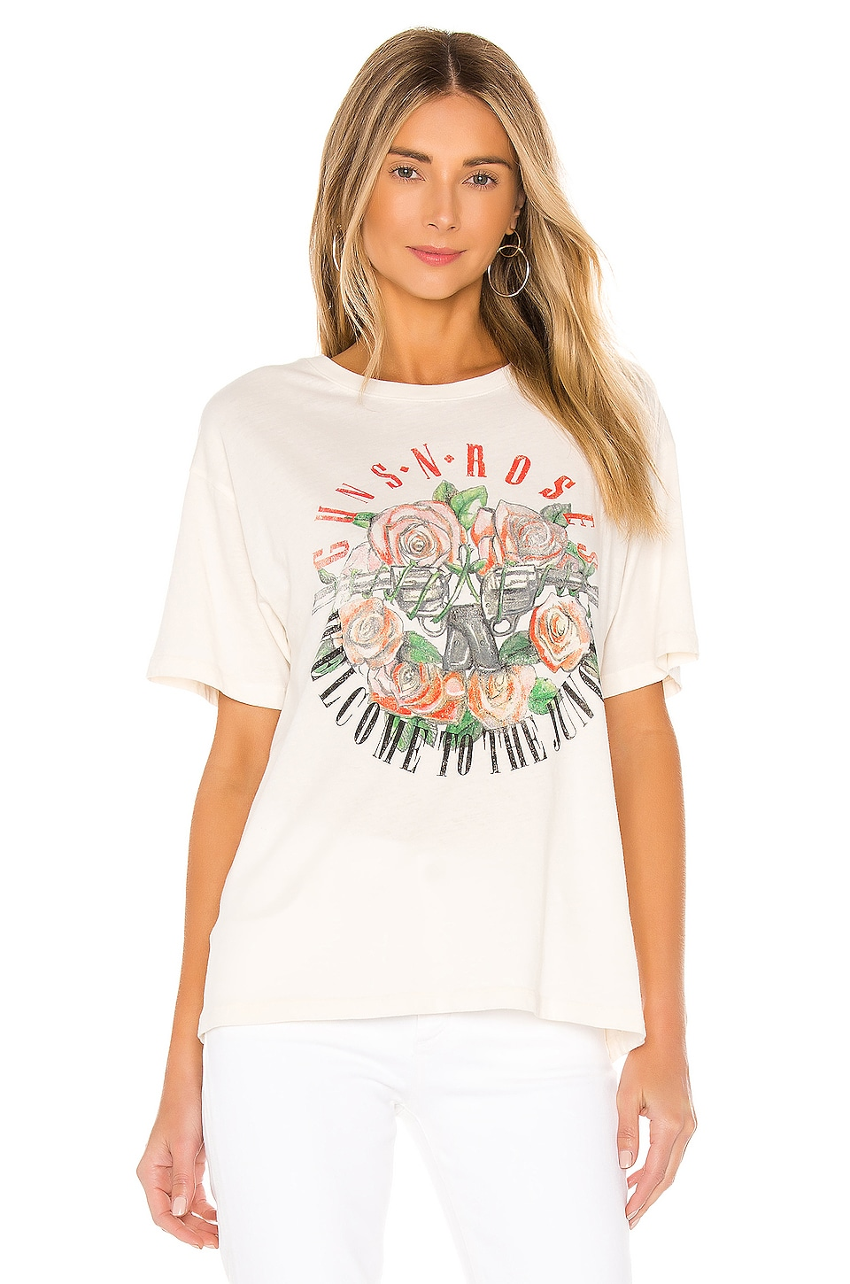 Guns N Roses Classic Boyfriend Tee, view 2, click to view large image.