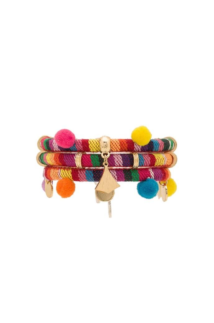 Dahl Multi Pom Pom Bracelet