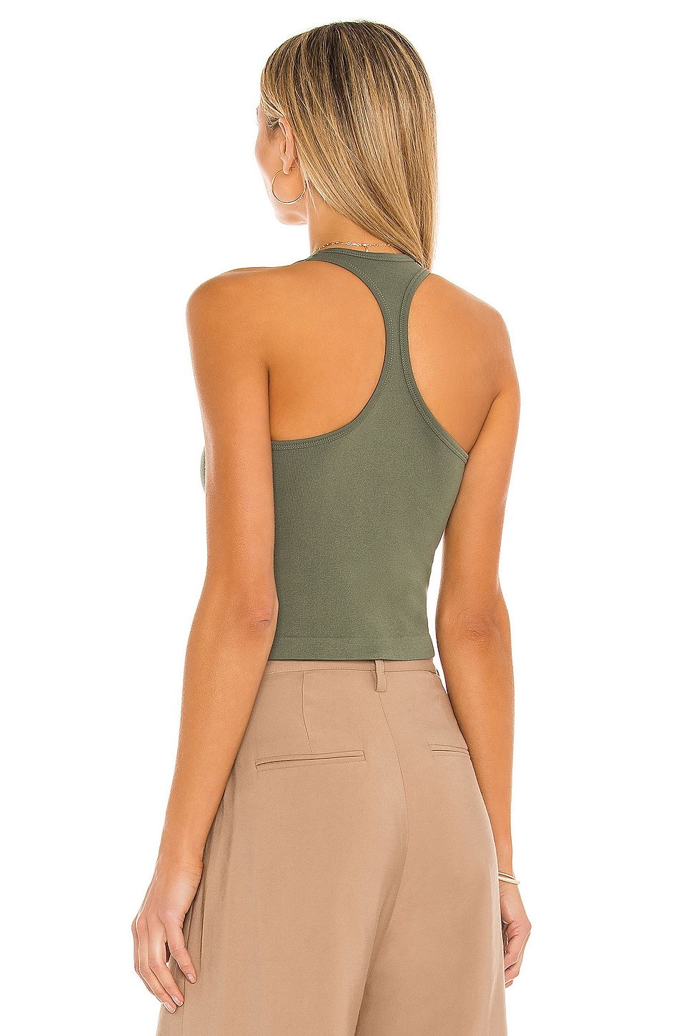 Hayley Racerback Tank Top, view 3, click to view large image.