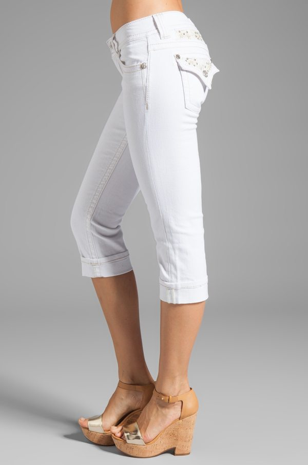 White Jean Capris - Trendy Clothes
