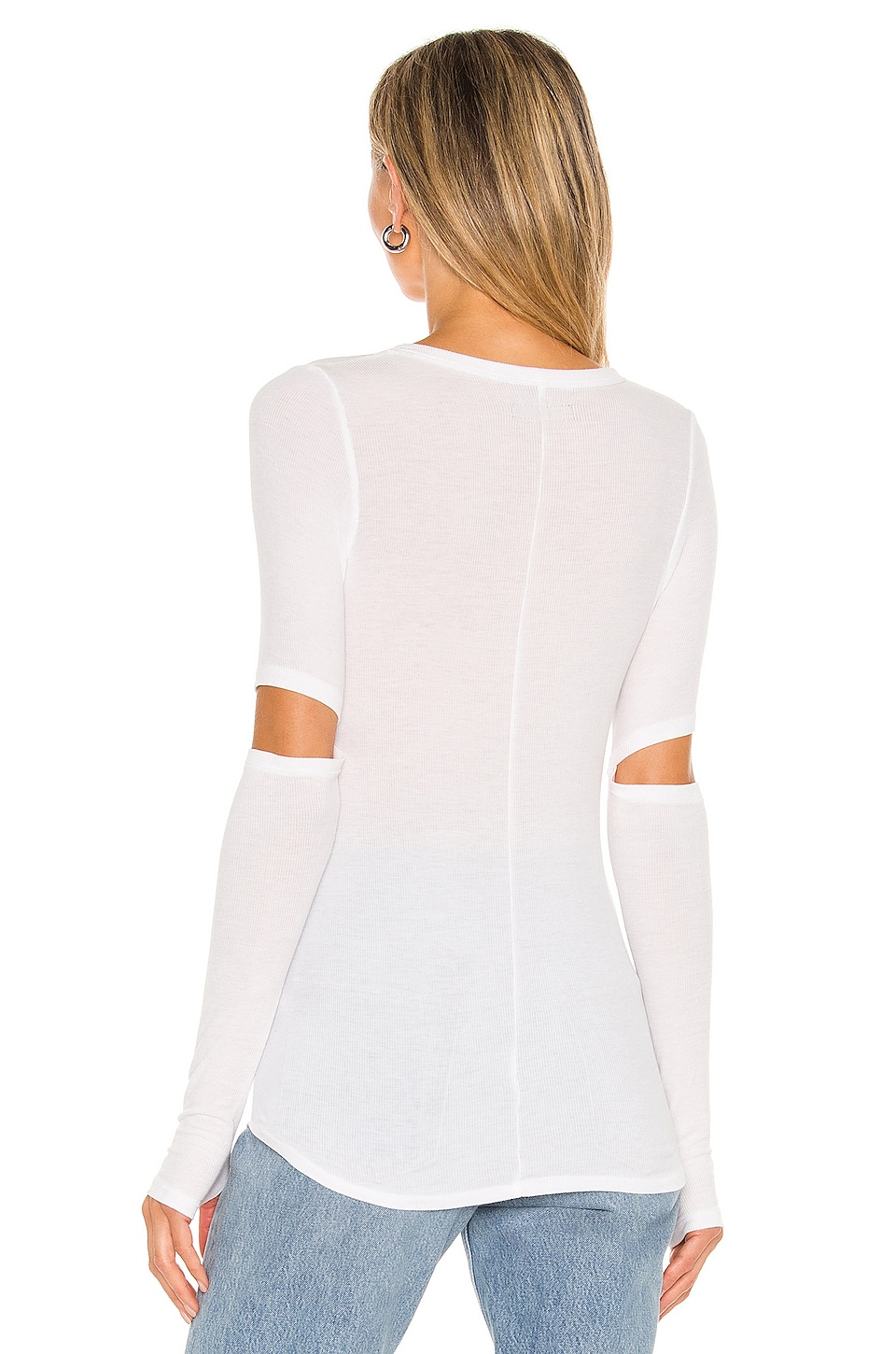 Solomon Elbow Cut Out Tee, view 3, click to view large image.