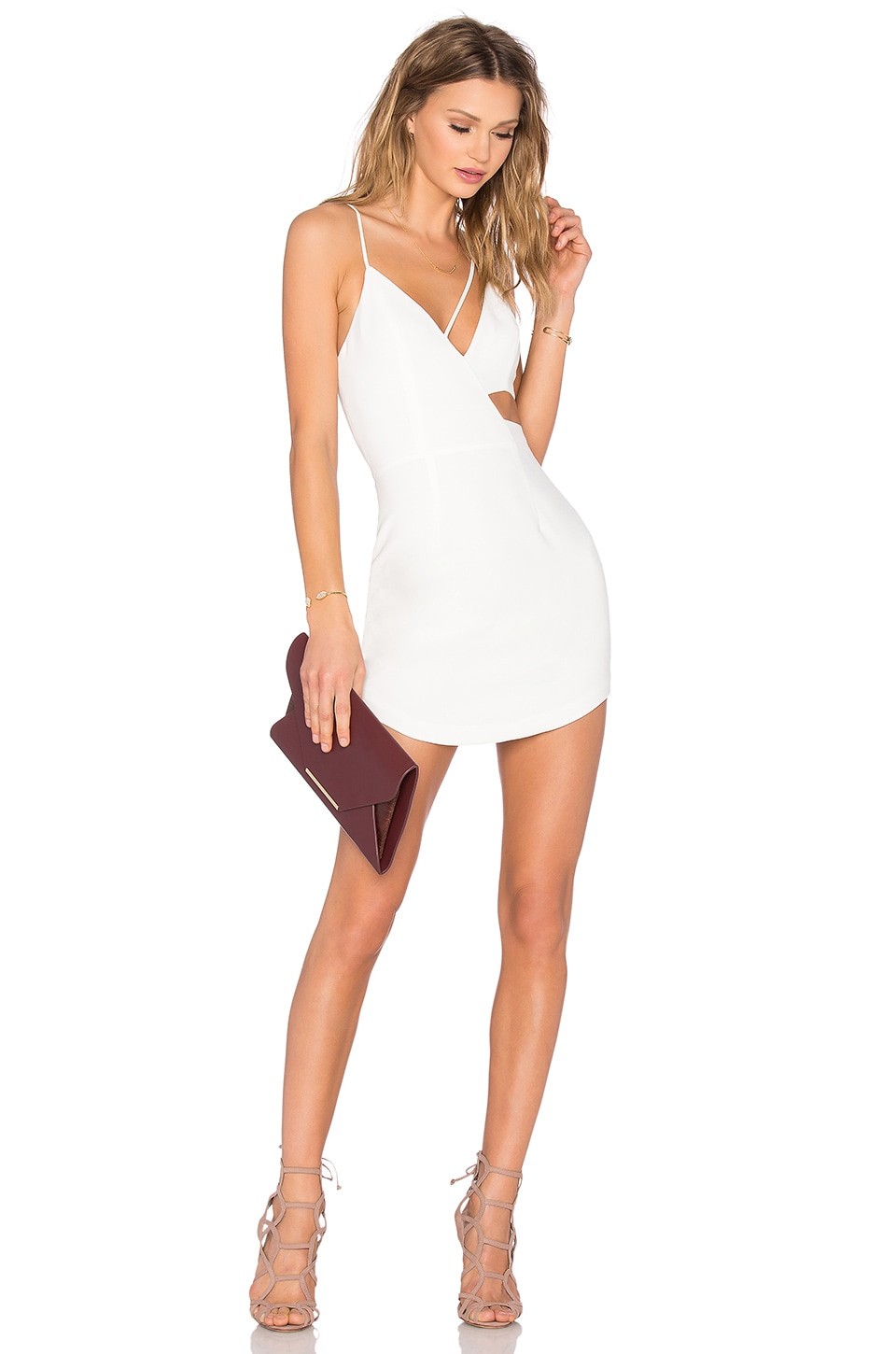 NBD Conquer The World Dress in White   REVOLVE