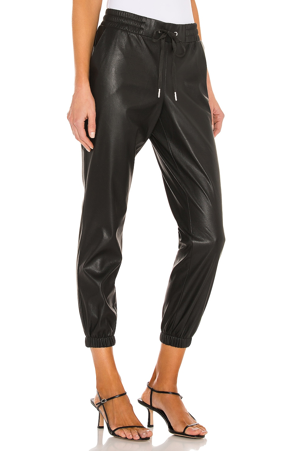 Scarlett Leather Jogger, view 2, click to view large image.