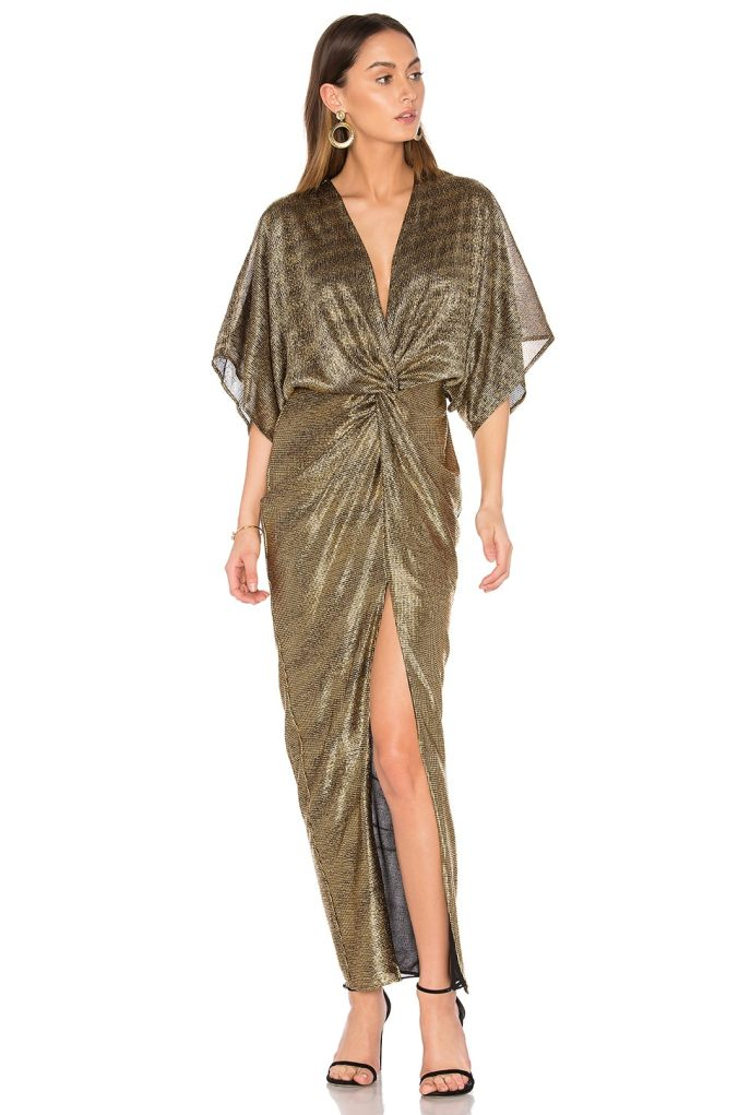 Twist Kimono Maxi Dress