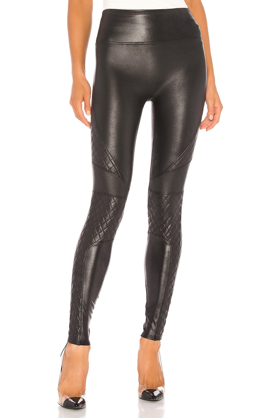 Quilted Faux Leather Legging, view 1, click to view large image.