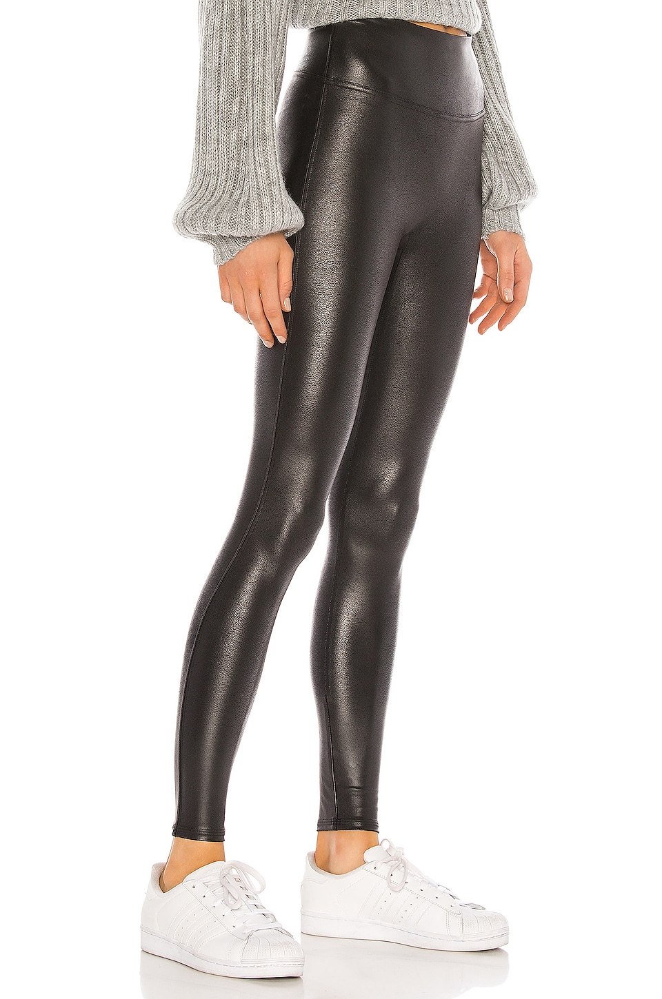 Petite Faux Leather Legging, view 2, click to view large image.