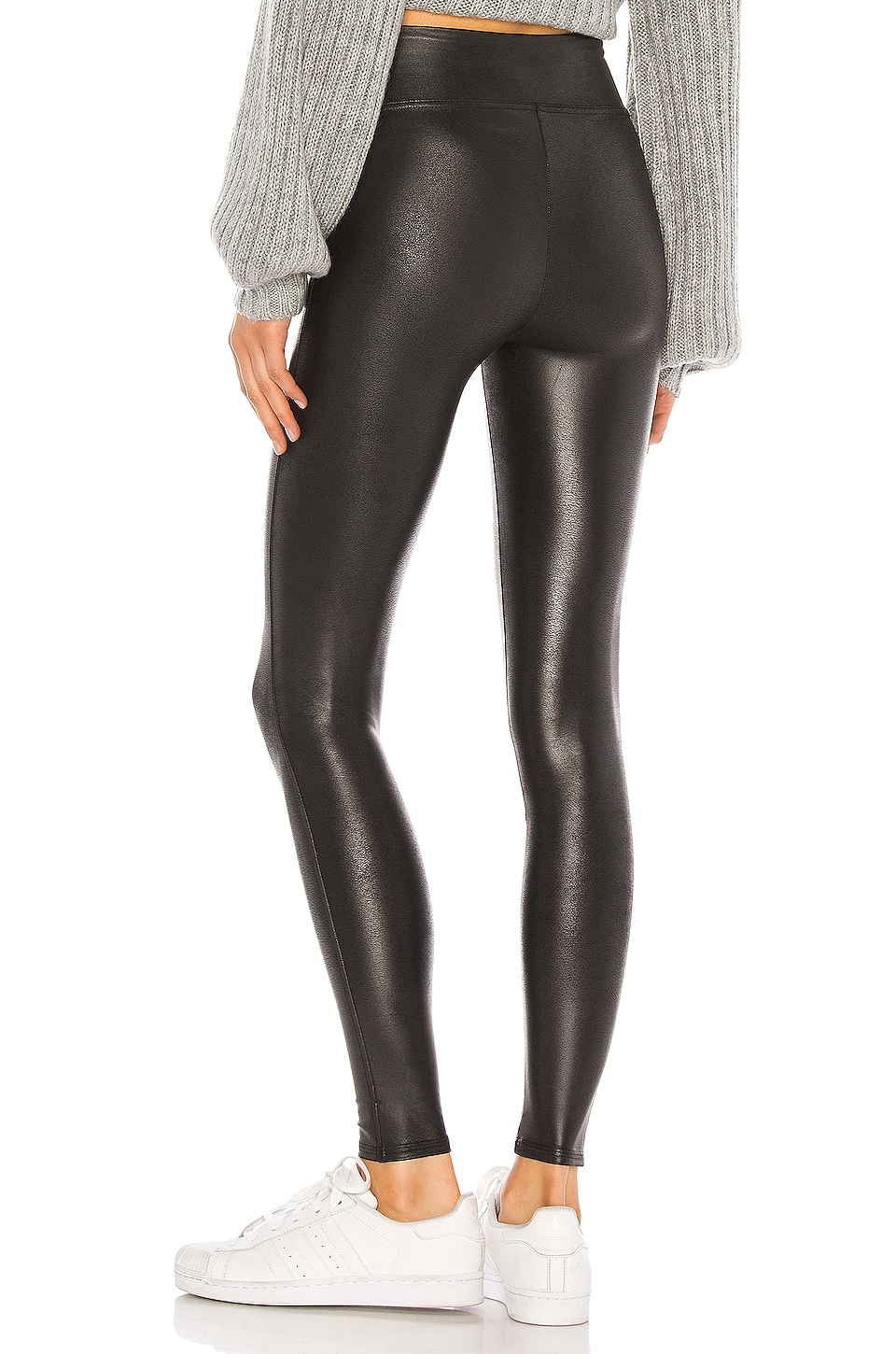Petite Faux Leather Legging, view 3, click to view large image.