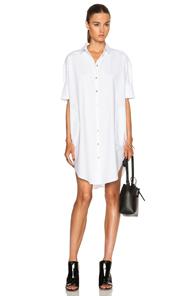 Acne Studios Lash Long Shirt Dress in White