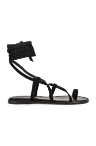 Manolo Blahnik Primathi Sandal in Black
