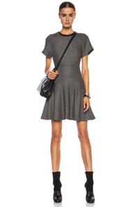 rag & bone Watson Flare Wool-Blend Dress in Black