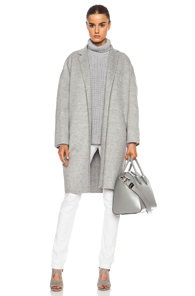 ROCHAS Wool Coat in Gray