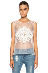Sass & Bide The Formal Simplicity Poly Shirt in White