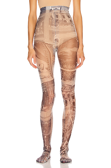 Acne Studios Niola Print Tight in Abstract,Blue,Neutral. - size S (also in XS)