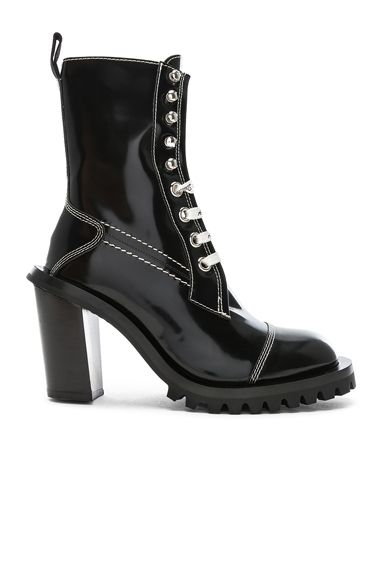 Acne Studios Leather Lace Up Boots in Black. - size 39 (also in 35,36,38,40)
