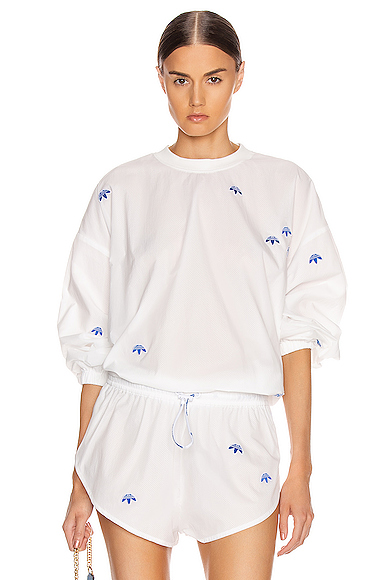 adidas by Alexander Wang Crewneck Sweater in White. - size S (also in L,M,XS)