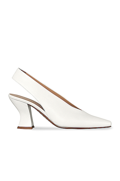 Bottega Veneta Almond Slingback Kitten Heels in White. - size 40 (also in 36)