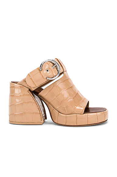 Chloe Buckle Platform Sandals in Neutral,Animal. - size 37 (also in 36,38,38.5,39)