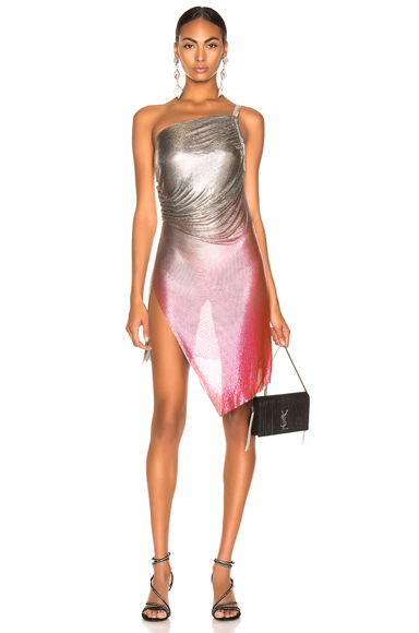 FANNIE SCHIAVONI for FWRD Lola Dress in Metallic,Ombre & Tie Dye,Pink. - size M (also in XS)