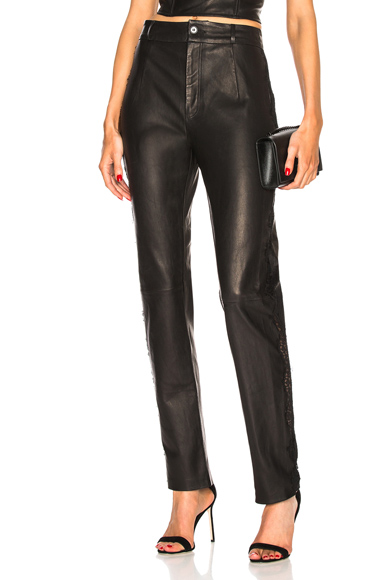 fleur du mal Tailored Leather Pant in Black. - size 2 (also in )