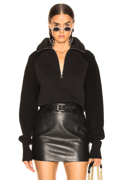 Helmut Lang Combo Zip Sweatshirt in Black. - size S (also in L)