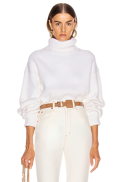 Helmut Lang Turtleneck Sweater in White. - size M (also in L,XS)