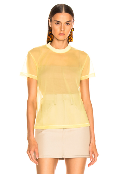 Helmut Lang Little Tee in Yellow. - size XS (also in L,S)