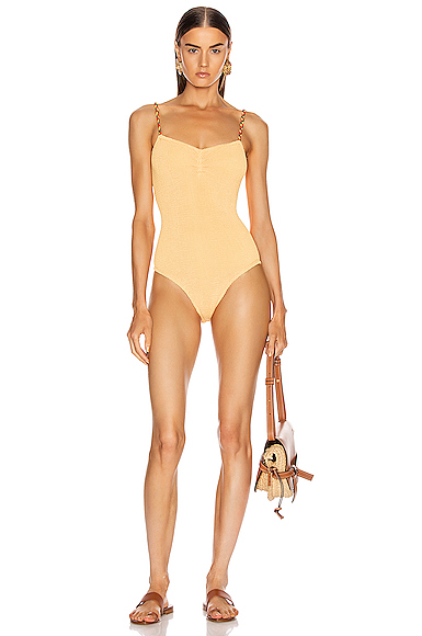 Hunza G Trina Swimsuit in Orange.