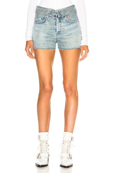 JEAN ATELIER Flip Jean Shorts in Blue. - size 28 (also in 26,27,29,30,31)