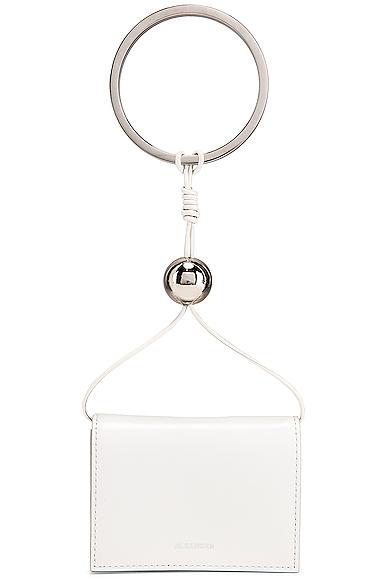 Jil Sander Bracelet Wallet Bag in White.