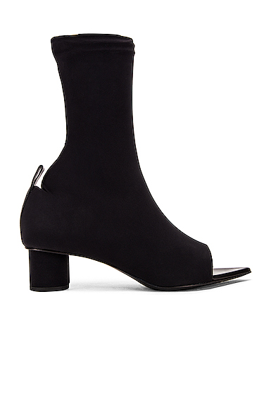 Jil Sander Open Toe Bootie in Black. - size 37 (also in 36,36.5,37.5,38,38.5,39,39.5,40)