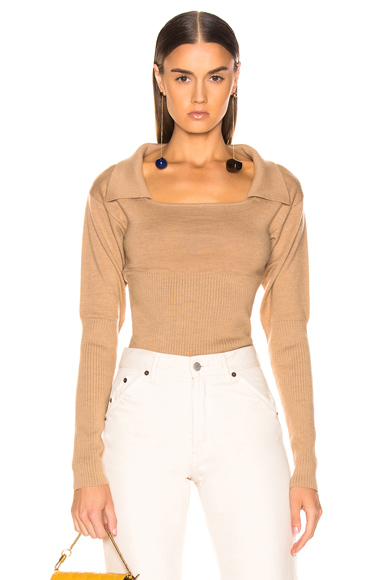 JACQUEMUS Praio Sweater in Neutral. - size 42 (also in )